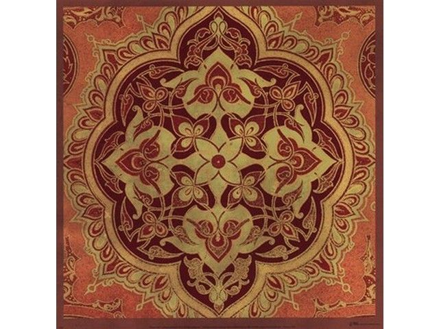 Persian Tiles I Poster Print by Paula Scaletta (12 x 12)