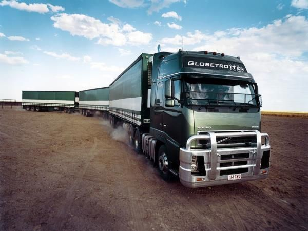 Road train in Australia. Volvo trucks. | Trucks (Cabover) | Pinterest | Trucks, Trains and Volvo
