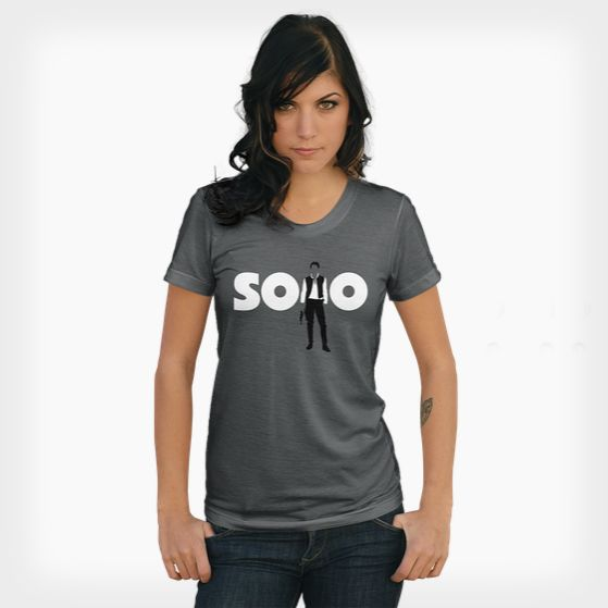 SOLO in one shade of grey @ https://www.shirtpunch.com/designs/details/solo