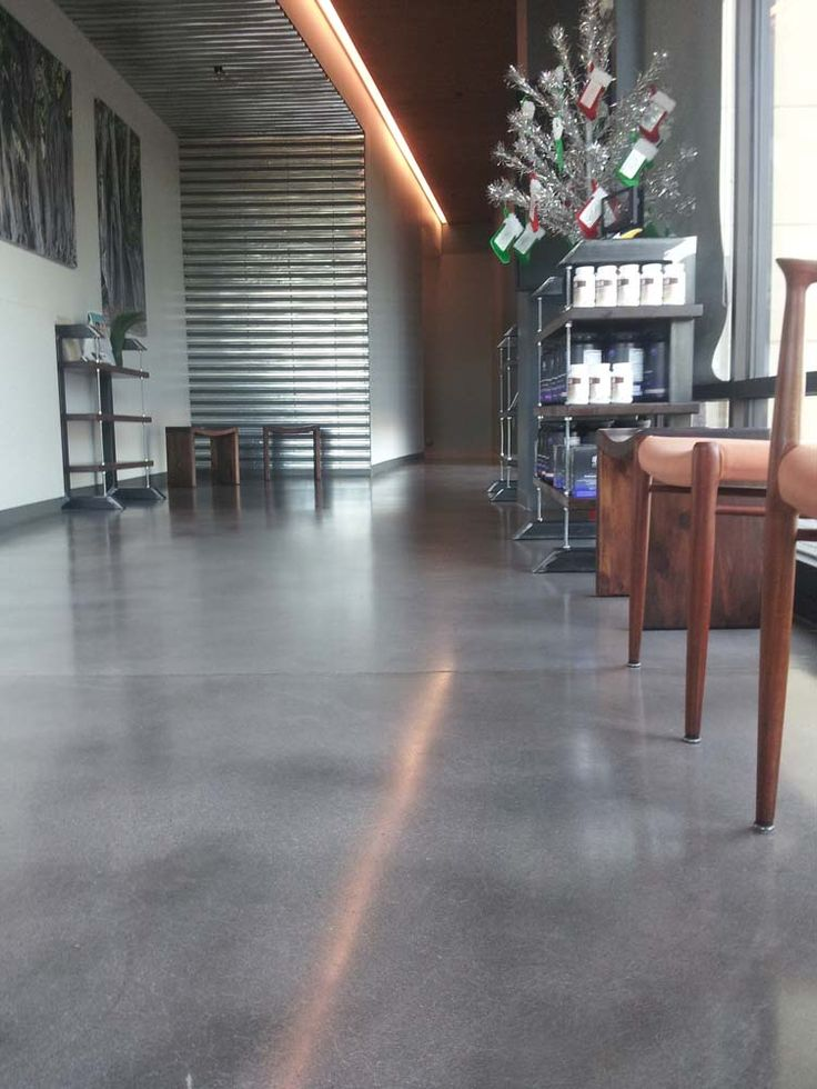 Stained Concrete Floors Grey A Dream Earth Sheltered House