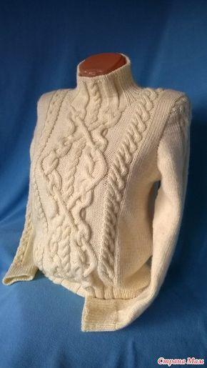 Добрый вечер, мастерицы! А я опять пришла с новой работой, это свитер от Бернат. Не давал мне покоя долгое время и вот настал и его час.