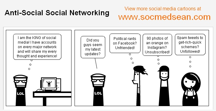 Anti-Social Social Networking Comic - Are You Turning Off Your Friends With Your Status Updates?
