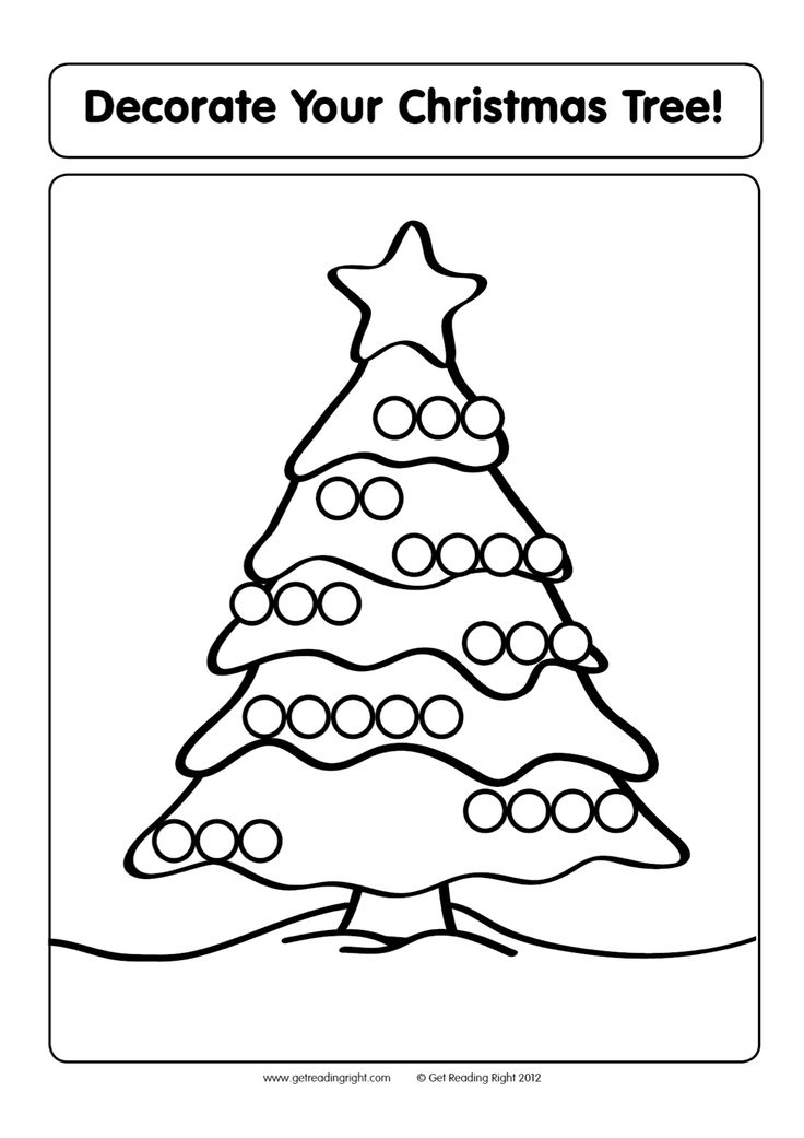 Have the child work from the top of the Christmas tree to the bottom, filling in the blank baubles with graphemes to create decodable words