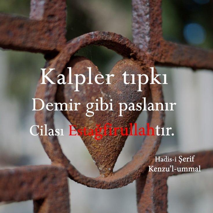 Kalp.  #kalp #demir #pas #cila #estağfurullah #hadis #hadisler #islam #ilmisuffa