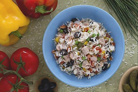 Insalata di Riso - store up to 3 days.  Prepare once, have 3 lunches.