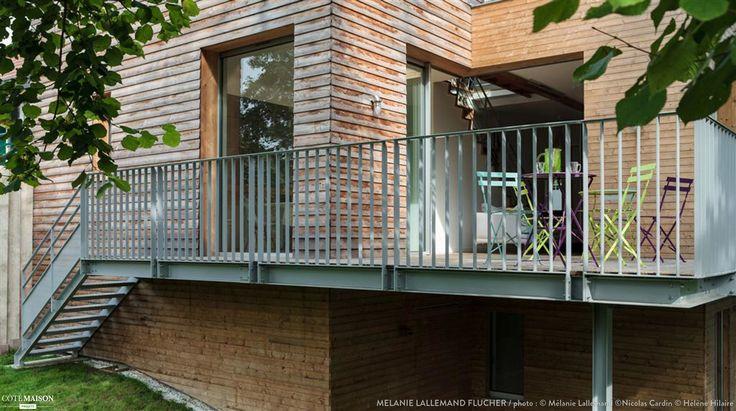 la maison bois m lanie lallemand flucher c t maison architecture pinterest projets. Black Bedroom Furniture Sets. Home Design Ideas