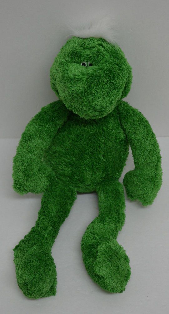 """Baby Boyds Frog Plush Green White Mohawk Bean Bag Long Arms Legs 15"""" #AllOccasion http://stores.ebay.com/Lost-Loves-Toy-Chest?_dmd=2&_nkw=boyds"""