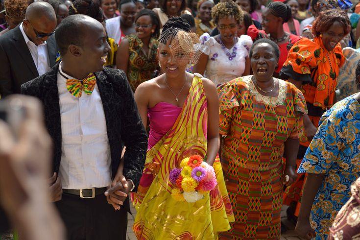 Her Reception dress based on the Rwandan Mushanana