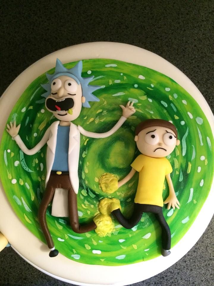 Ooooh-wheee! Rick and Morty cake I made, featuring Mr.Poopy Butthole! - Album on Imgur