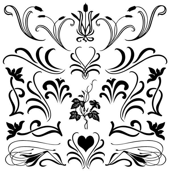 28 best photoshop brushes pinceles images on pinterest House Plan Photoshop Brushes free fancy floral flourish shapes and brushes for photoshop florals with flourish solid set 1 house plan photoshop brushes