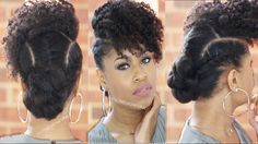 Follow this simple and easy hairstyle video guide to a bang n twisted knot. Also, check out another video on how to stretch natural hair with no heat.