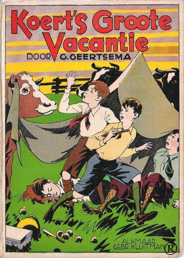 Koert's Groote Vacantie, geschreven door G.Geertsma. Uitgegeven door uitgeverij Kluitman - Alkmaar
