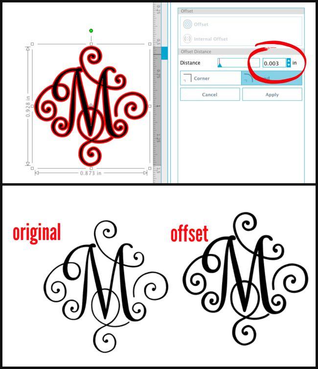 Commercial use vinyl scroll monogram single letter