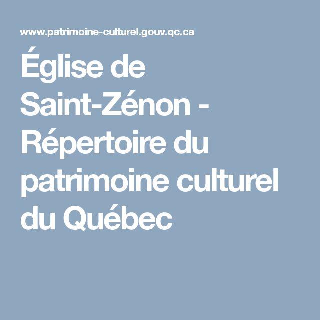 Église de Saint-Zénon -                        Répertoire du patrimoine culturel du Québec