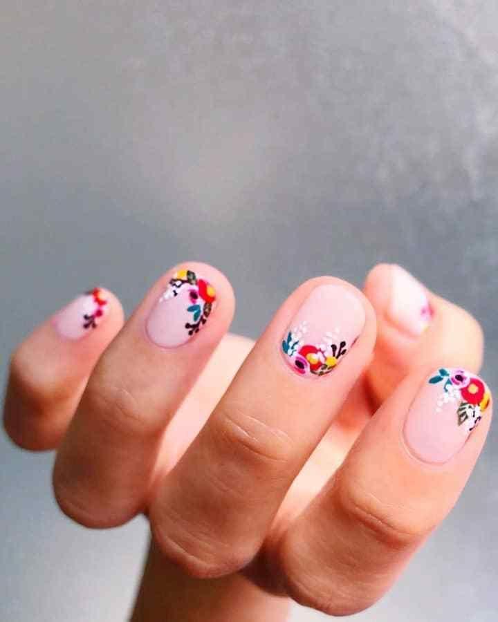 Unhas decoradas 2021 - 14 tendências, 110 fotos + passo a passo in 2021 | Cute spring nails, Nail designs spring, Spring nail art