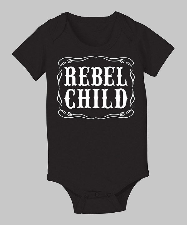 This Country Casuals Black 'Rebel Child' Bodysuit - Infant by Country Casuals is perfect! #zulilyfinds