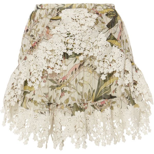 Alice Floral Print Lace Skirt ($225) ❤ liked on Polyvore featuring skirts, print, lace maxi skirt, long floral skirts, wrap maxi skirt, lace skirt and flower print skirt