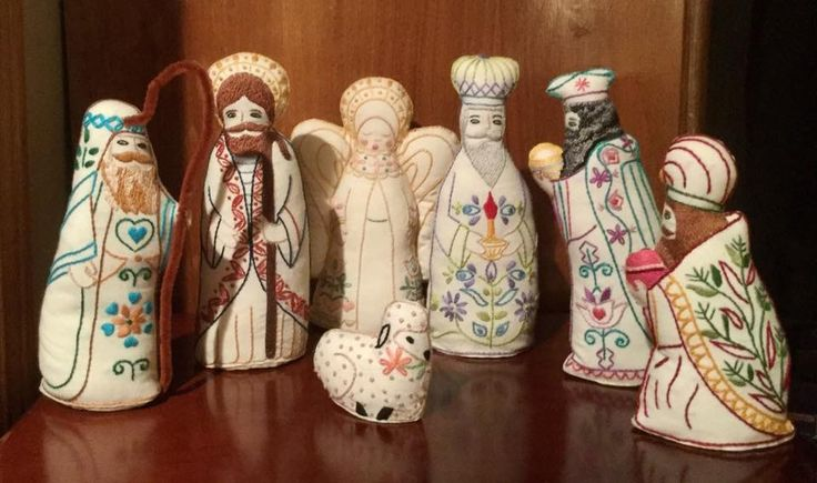 Beautifully Embroidered Set, from my Nativity Collection