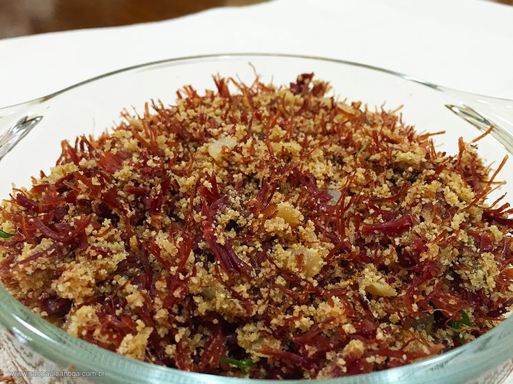 Paçoca de Carne Seca, receita tradicional paulista