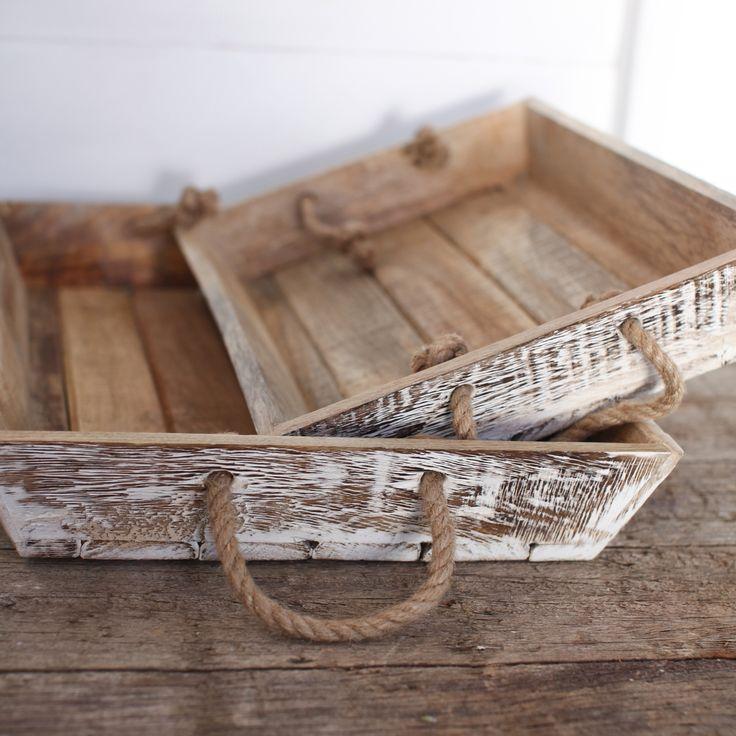 Aubeterre Blue - Jarita Mango Wood Tray, Distressed White, Large 7x46x31cm, £31.96 (http://www.aubeterreblue.co.uk/serveware/trays-platters/jarita-mango-wood-tray-distressed-white-large-7x46x31cm/)