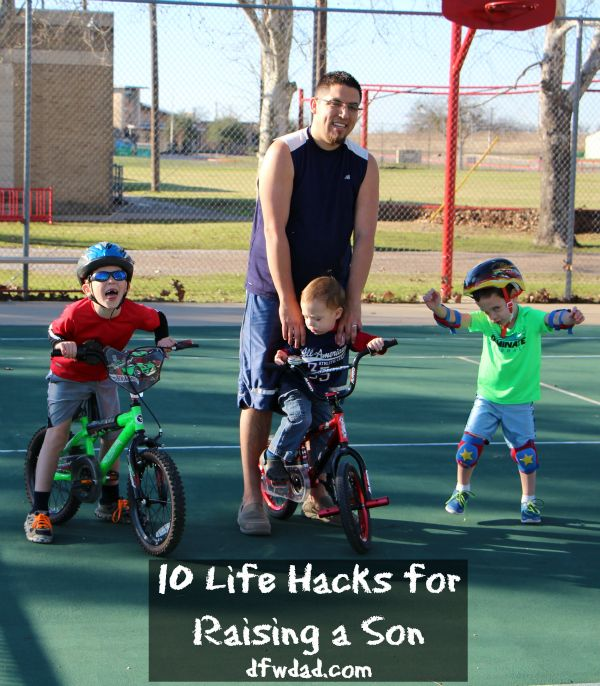 Parenting is hard. Here are 10 helpful life hacks for raising a son that will help him learn, grow, and become a man with real life skills.