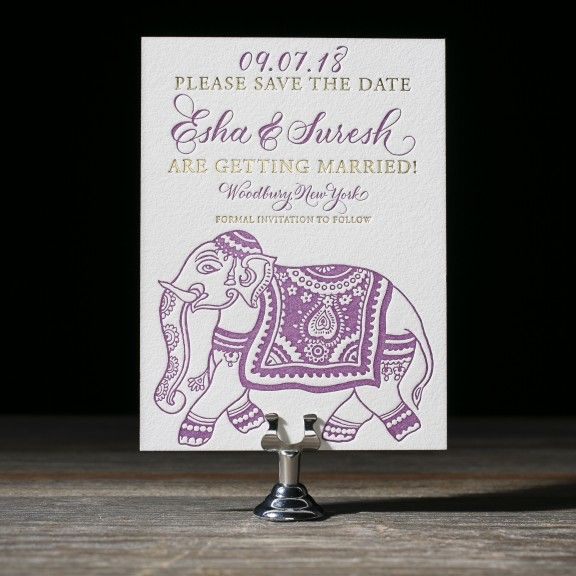 Darjeeling letterpress wedding Save the Date by Aimee O'Boyle for Bella Figura. Customize yours with Paper Passionista.