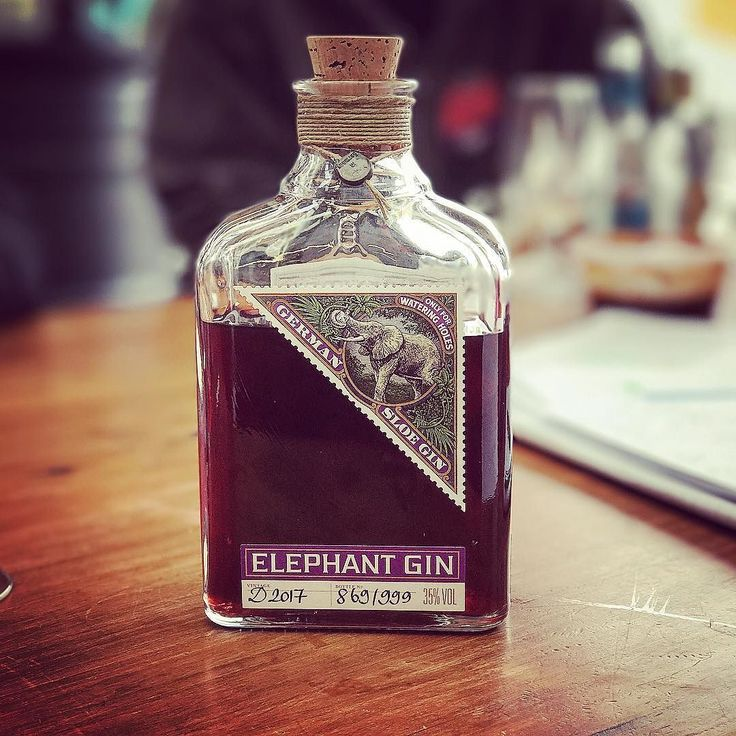 Bottle 869/999 @elephantgin Sloe Gin. Really nice with just a cube of ice.