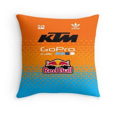 troy lee designs team ktm throw pillow