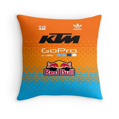 troy lee designs team ktm throw pillow