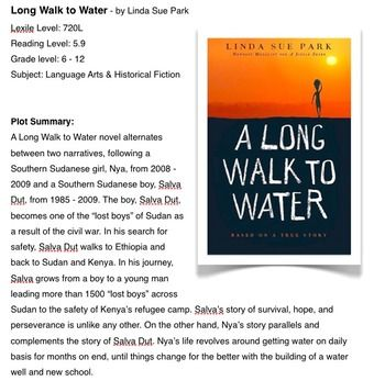 long walk to water themes A long walk to water faq faqs for students, teachers, and readers of a long walk to water, by linda sue park (clarion books / houghton mifflin harcourt, 2010.