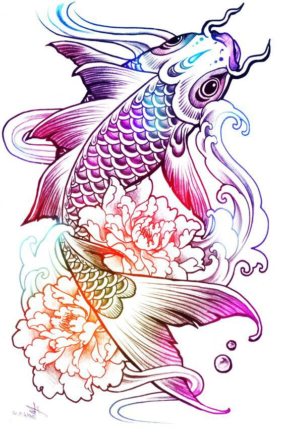 how to draw a rainbow fish