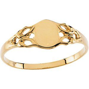 14k Yellow Gold Childrens Signet Ring - Size 3 - JewelryWeb JewelryWeb. $143.10. Save 50% Off!