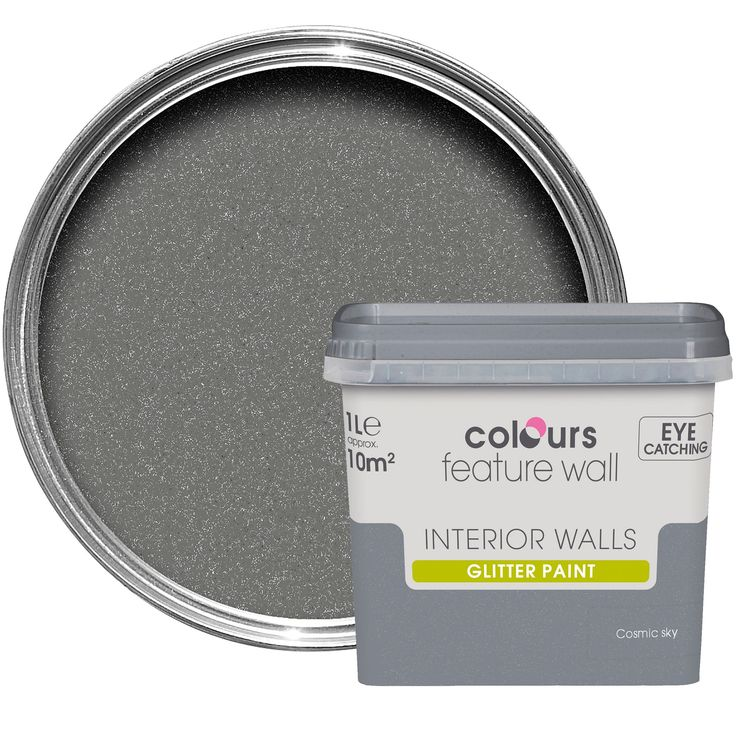 Colours Feature Wall Cosmic Sky Glitter Effect Emulsion Paint 1L | Departments | DIY at B&Q