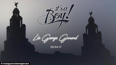 Steven Gerrard and his wife Alex announce the birth of their first little boy Lio George Gerrard