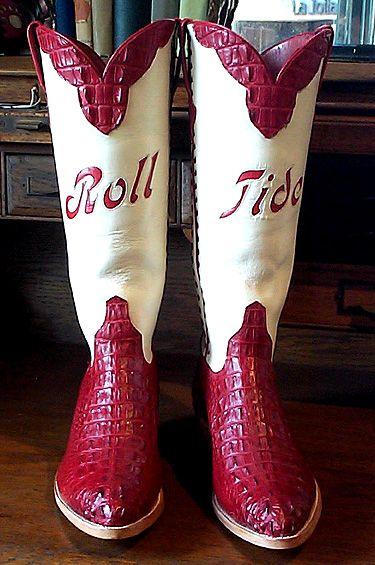 Alabama Crimson Tide Hornback Alligator Boots
