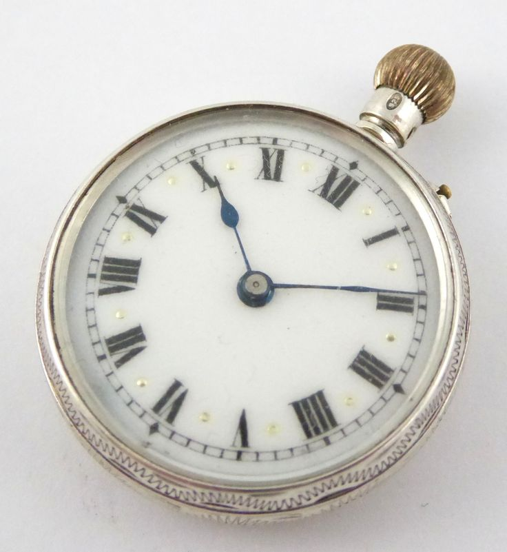 Antique Hallmarked 1912 Sterling Silver Pocket Watch Swiss Made Movement - The Collectors Bag