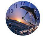 "Jumping Dolphin Clock Large 10.5"" Wall Clock Decorative Round Novelty Clock - $22.53"