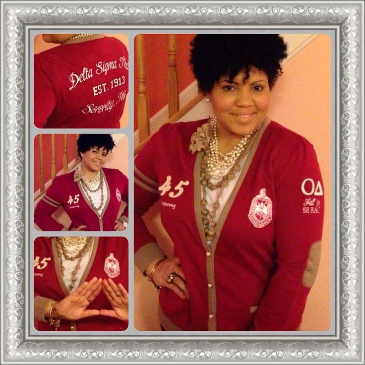 DST Delta Sigma Theta varsity cardigan! So elegant!!
