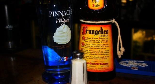 Chocolate Covered Pretzel Shot Whipped Vodka Frangelico