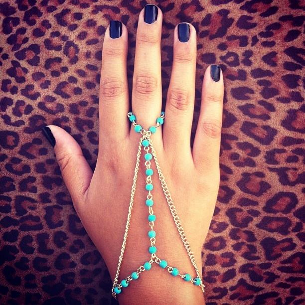 beaded hand chain bracelet #gojane