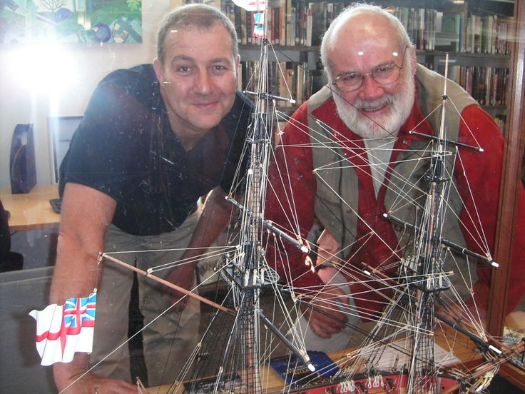 """WIth model maker John Thompson - and """"Teazer"""""""