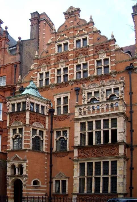 52 Cadogan Square, 1886  Knightsbridge  Harold Ainsworth Peto (1854-1933) and Sir Ernest George (1839-1922)