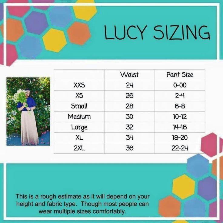 Lucy Sizing www.facebook.com/groups/LuLaRoewithBridgetBurton