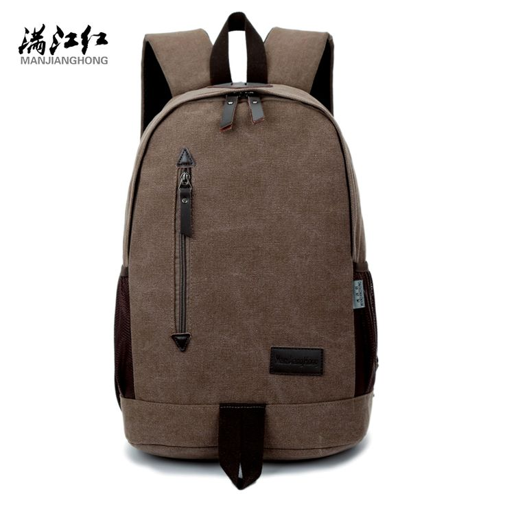 Fashion Design Manjianghong Canvas Backpack Chinese Man's Backpack Bag University Students ...
