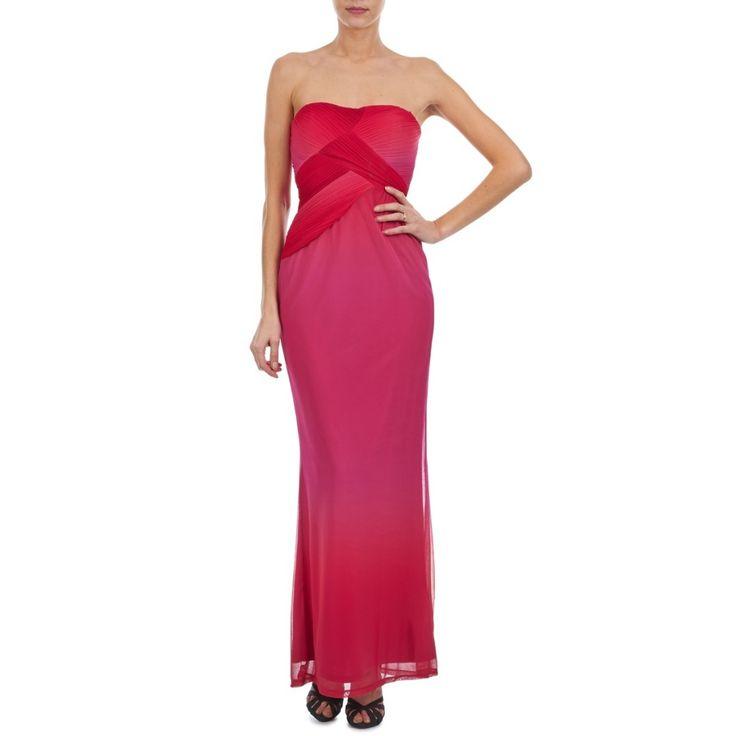Manoukian robe longue bustier rouge