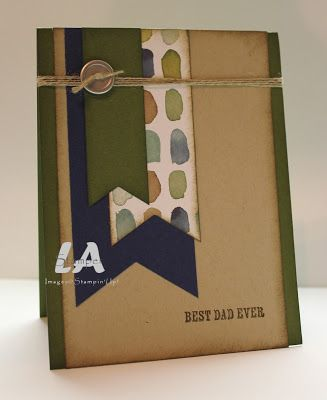 LA Stamper, Stampin' Up!: Simple Card Sunday 15-Banner Triple Punch card. Visit my blog for a how to video and more ideas with the Banner Triple Punch.