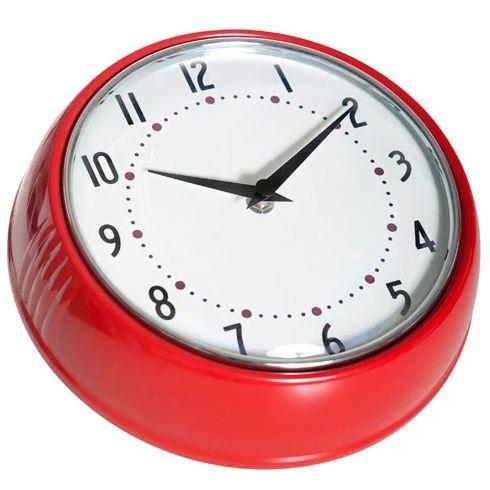 1950's Swedish Design Red Wall Clock