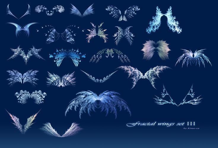 Fractal wings - set III by Kime-ra.deviantart.com on @DeviantArt