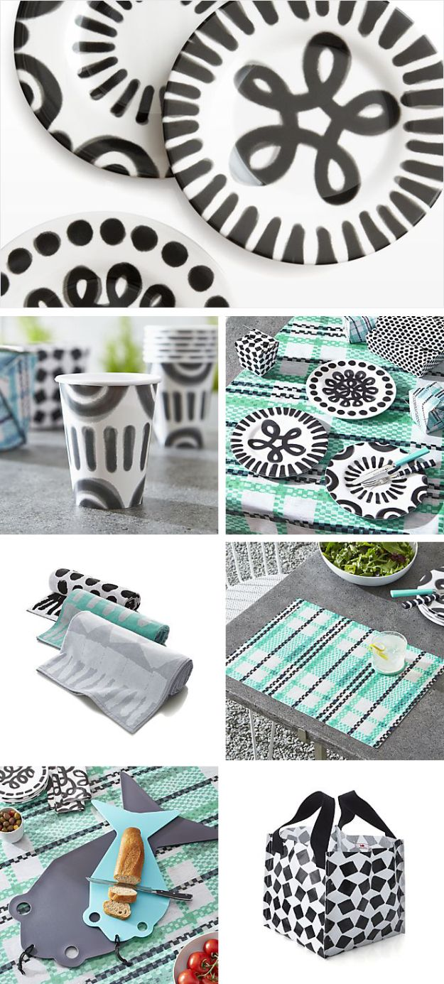Paola Navone for Crate and Barrel _ pic nic collection | http://www.crateandbarrel.com/paola-navone-collection/paola-navone-pic-nic-collection/1  #paolanavone #createandbarrel