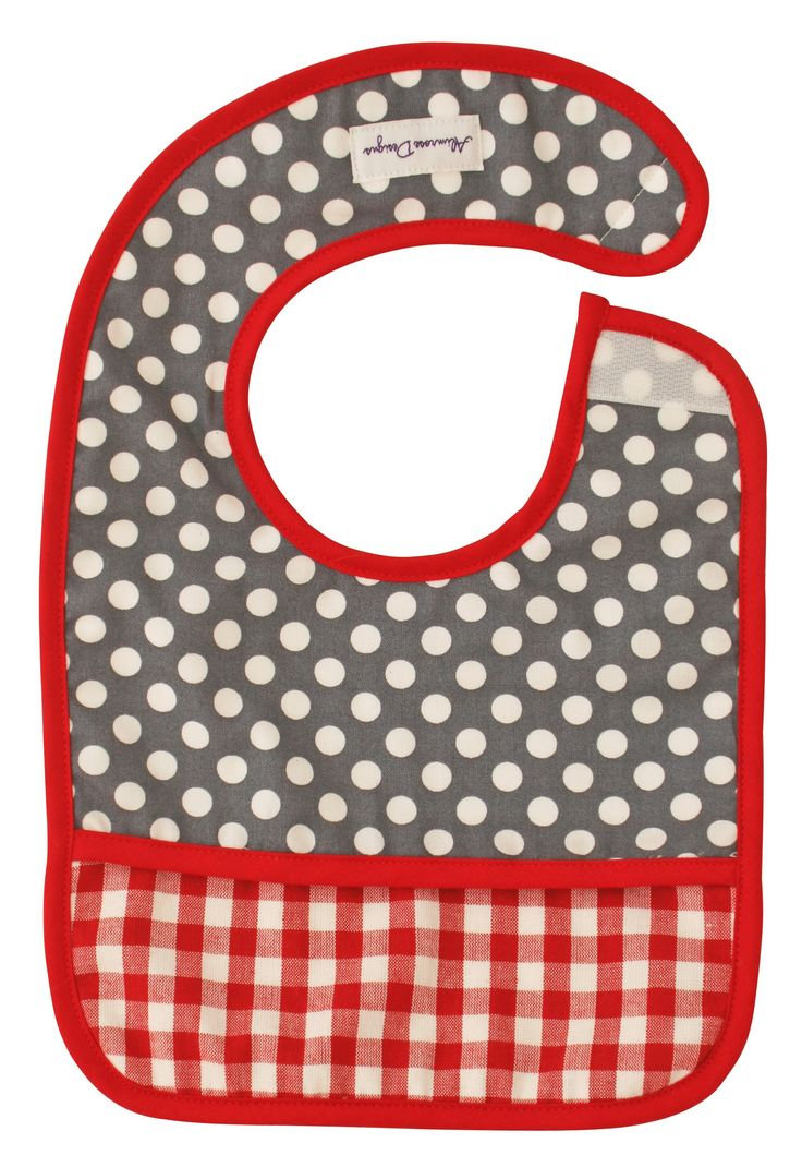 Alimrose Bib Dottie Grey - Gorgeous bib for boys
